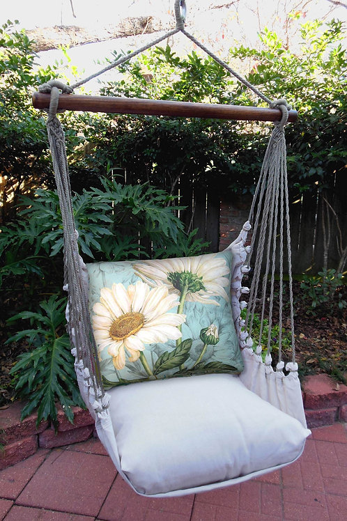 LT Swing Set w/ Daisies Pillow, LTTC509-SP