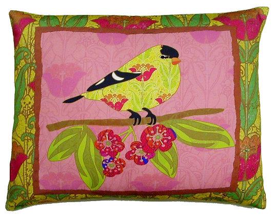Bird On A Limb Pillow, Pink LBR3HP