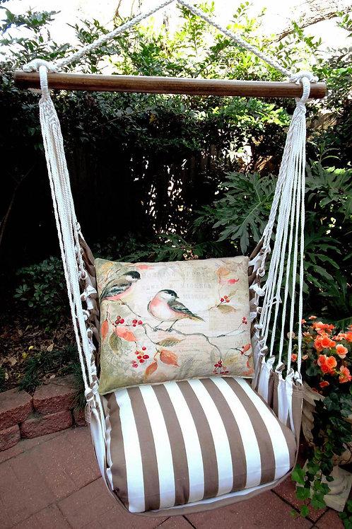 SC Swing Set w/ Bird on a Limb Pillow, SCSWCH-SP