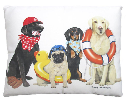 Dogs of Summer Pillow, MLT704, 2 sizes