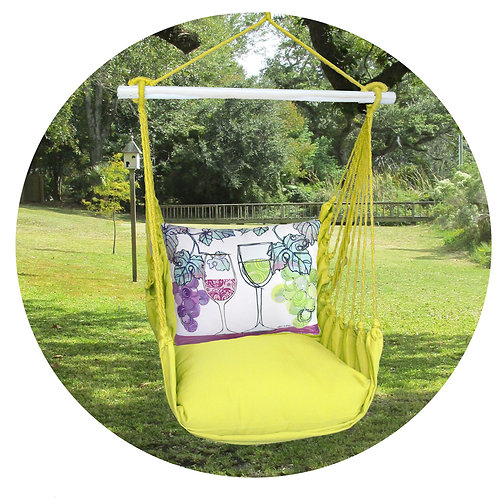 Lime Swing Set w/ Wine Pillow, LMRR811-SP