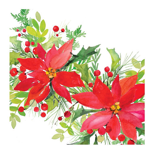 BC903LCS, Poinsettias,18x18 only