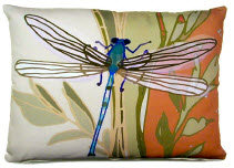 SC Pillow, Dragonfly, RDFLLCS, 18x18