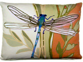 Dragonfly Pillow, RDFL, 2 sizes