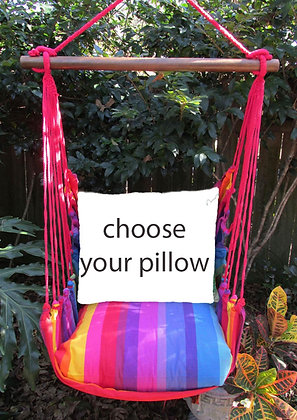 Rainbow Stripe Swing Set (Without Back Pillow)