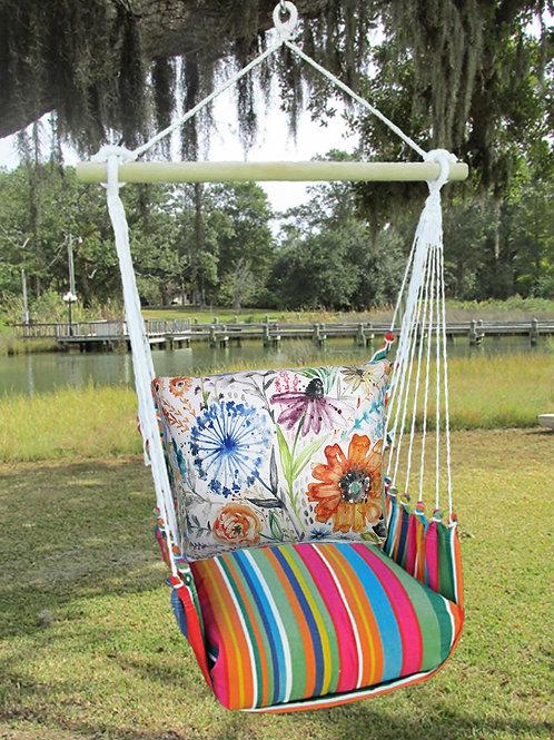Watercolor Floral Swing Set, LJLS203-SP