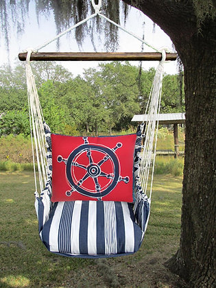 MA Swing Set w/ Ship Wheel Pillow, MARR607-SP