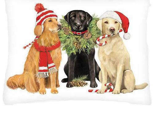 Christmas Dogs, MLT604HP, 19x24