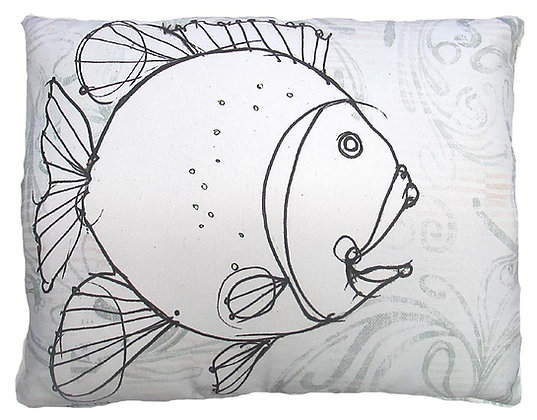 Fish Pillow, RR206, 2 sizes
