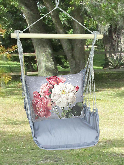 Pink & White Roses Swing Set, GRTC203-SP