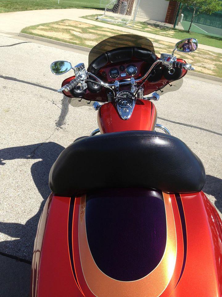 Orange/purple/gold VTX bagger