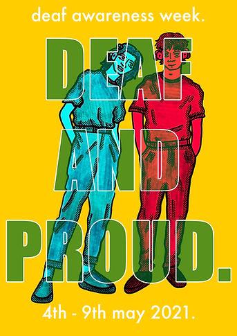 Deaf Awareness Week Poster 2 (Yellow) -
