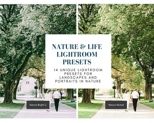 Nature and Life Modern Lightroom Presets for Landscape and Portrait Photography