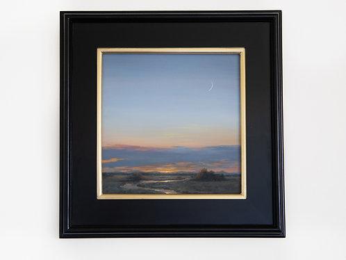 """Nightfall"" oil landscape painting"