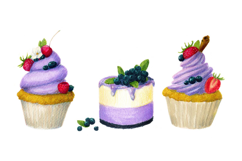 """Three desserts"""