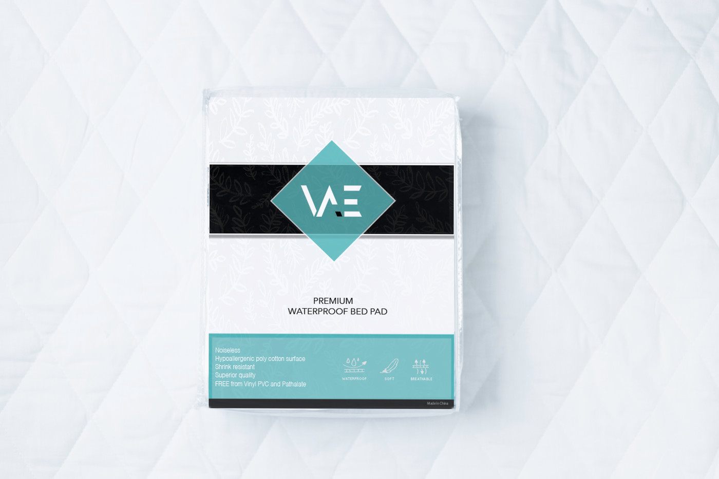 Mattress pad packaging design