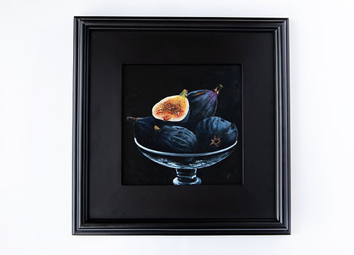 """Fresh Figs"" oil still-life painting"