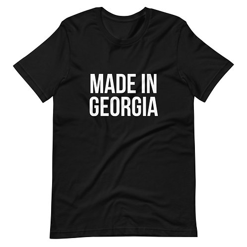 """Made In Georgia"" Basic White T-Shirt (Unisex)"
