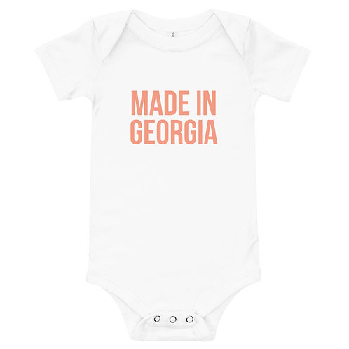 """Made In Georgia"" Peach Edition Baby's One-Piece"
