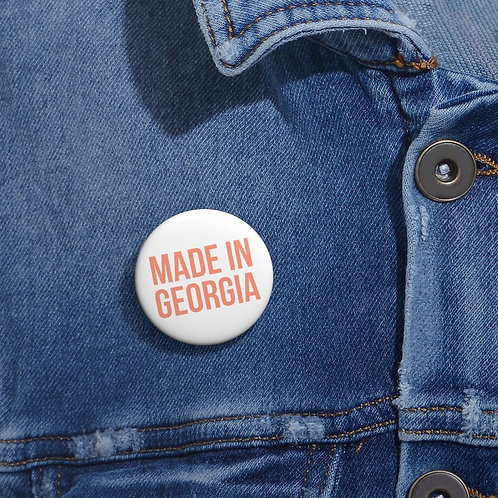 """Made In Georgia"" Peachy Flavor Collection Pin"
