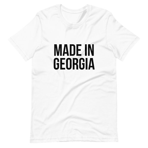 """Made In Georgia"" Basic Black T-Shirt (Unisex)"