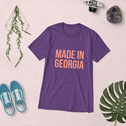 """Made In Georgia"" Purply Peach Signature Flavor T-Shirt"