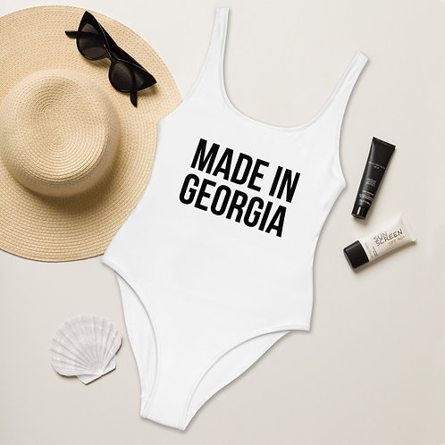 """""""Made In Georgia"""" One-Piece Swimsuit"""