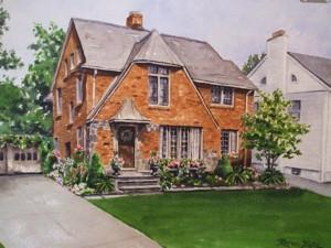 Personalized, original HOUSE PORTRAIT