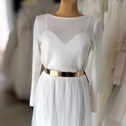 Brautpullover Bianco Evento