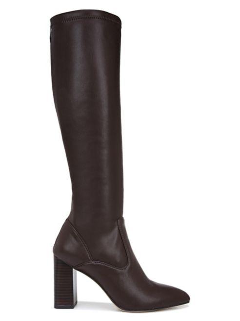 brown riding boots, brown boots, riding boots, franco sarto, franco sarto riding boot, knee high boots