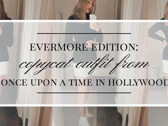 """Evermore Edition: Margot Robbie's White Skirt Outfit from """"Once Upon a Time in Hollywood"""""""