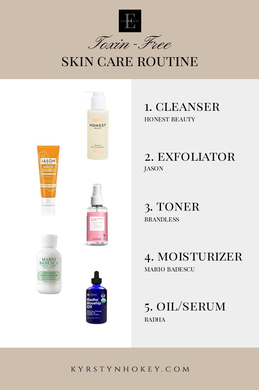 toxin free skin care, skin care, skin care routine, organic skin care, organic skin care routine