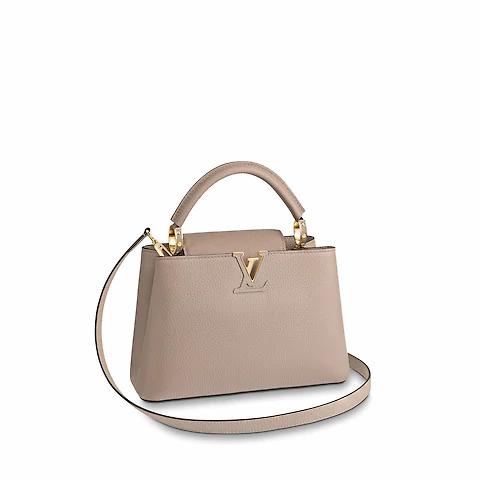 louis vuitton handbag, capucines, nude handbag, leath handbag, nude leather handbag, louis vuitton, handbag with shoulder strap