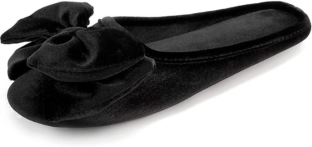 black house slipper, womens slippers, black women slipper, women slipper, black slipper womens, black velvet slipper, house slipper