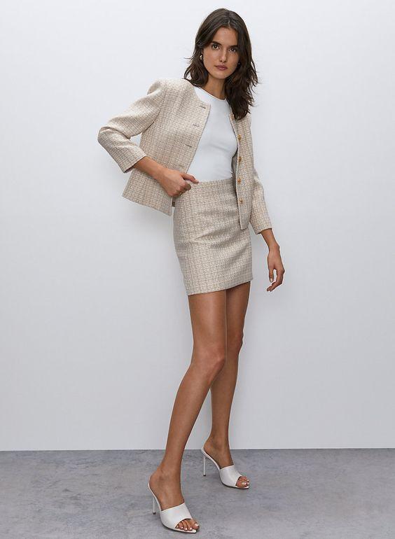 women mini skirt suit, skirt suit, women skirt suit, mini skirt with blazer, blazer and mini skirt