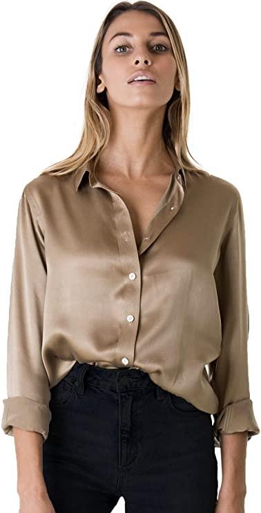 beige blouse, beige silk blouse, silk blouse, beige silk, beige silk blouse, beige top, beige silk top