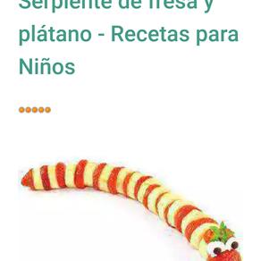 Serpiente de fruta.