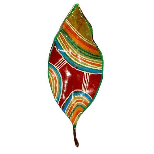 Red Leaf Brooch by Magnol