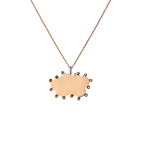 Personalizable Cloud Plate Charm Necklace by Padme Designs