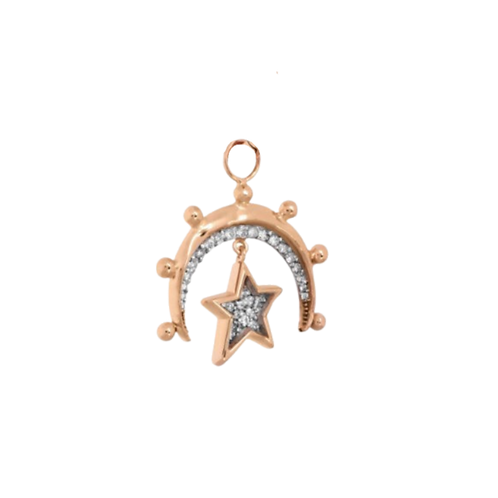 Moon and Small Star Charm by Padme Designs