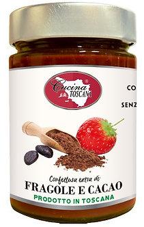 Confettura Extra di Fragole e Cacao 320g