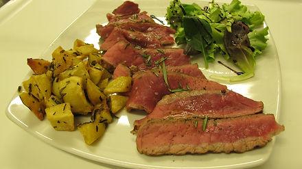 bistecca Lo scopiccio, tagliata dello scopiccio