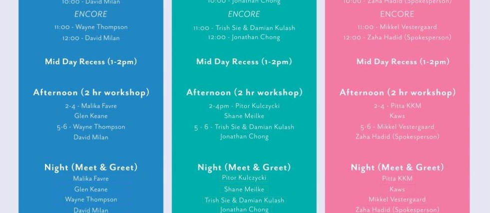 Event Timetable + Ticket Button Page