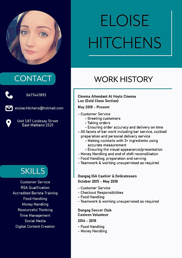 Eloise Hitchens Resume Page 1.JPG