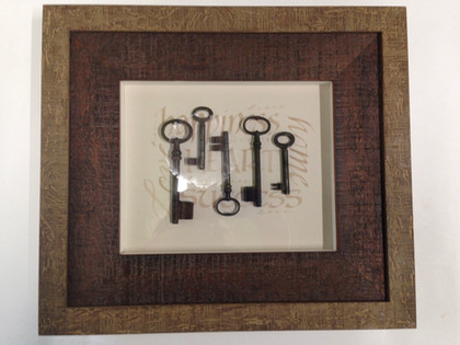 Deep set framing for bulkier artworks, like rugs, thicker textiles, or objects.