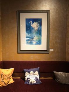Framed artwork in situ.