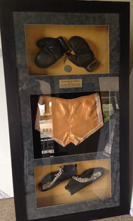 Jersey and memorabillia framing.