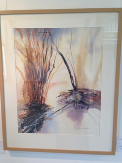Watercolours framed to enhance the painting.