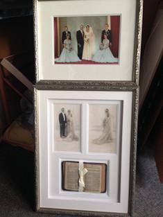 Beautiful wedding day memorabilia.