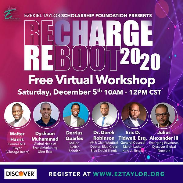 EZTaylor ReCharge Reboot workshop Flyer.